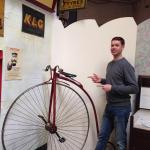 Me next to a penny farthing