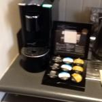 Capsule coffee machine in studio spa suite