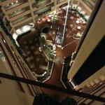 View from the twelfth floor elevator