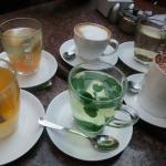 herbal tea and coffees