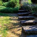 Stone steps in the garden of Pietrafitta