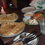 naan with choices of curry