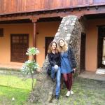 Giardino interno, con mia figlia