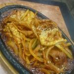 Sizzling pork and calamari