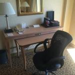 old school desk set up