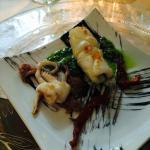 calamaro con nero di seppia pomodori secchi
