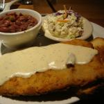 Chicken Fried Steak with Slaw and Red Beans & Rice