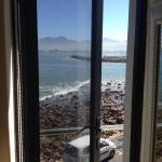 View from side window with door