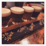 They have several English beers on tap at The Codfather. Can't decide? Order a flight. Cheers!