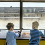 The Observation Gallery offers wonderful views of the State Capitol and currently features DINOS