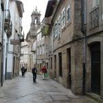 Una callecita de Santiago de Compostela