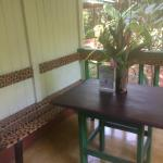 Table & Bench outside of Room on Personal Porch