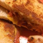 Bacon on grilled cheese is fabulous