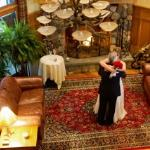 Bob and Kathy get married in front of the fireplace