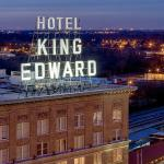 The signature sign of the historic King Edward Hotel of Downtown Jackson, Mississippi