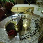 The celebration cake slice was heaven.