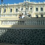 escadaria do Palácio do Governo próximo ao hotel