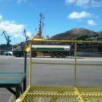 porto de Vitória próximo ao hotel