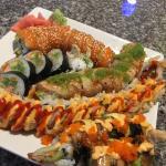 Great platter of amazing sushi rolls!