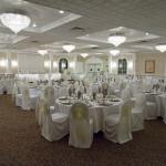 Banquet hall, seats 120 guests comfortably. simple and elegant