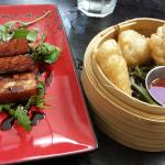 Pork belly & Veggie puffs