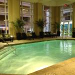 Pool Area with Hot tub and handicap DME