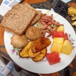 Very tasteful vegetarian breakfast. Thank you Veronica
