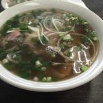 Beef pho with the works- large