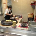 Fresh tortillas being made!