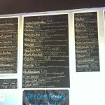 The sandwich menu in March 2015. Salad menu not captured.