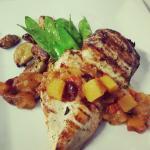 Skillet Chicken with Mango Chutney
