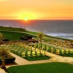 Ocean Lawn set for Wedding