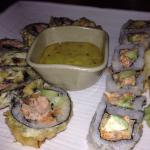 Sushi Tempura Roll and Spicy Hamachi