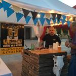 El zopilote Beers in a gastronomic event at the square