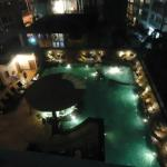 Pool bar during night