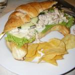 my order -chicken salad on croissant, see too much mayonnaise