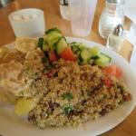 delicious salad with couscous - you can chose what you like in it