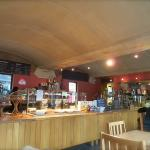 The Cafe, the counter-