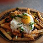 Poutine with fried egg and house-cut fries