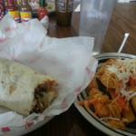 Grilled pork burrito & fried yuca