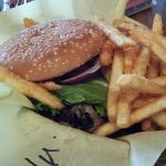 Pastrami/mushroom burger