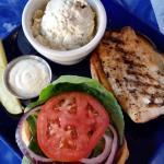 Herb-Grilled Mahi Sandwich with Bacon & Egg Potato Salad