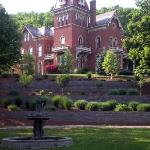 view of Schenck Mansion from bottom of drive