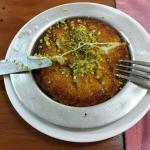 Künefe (turkish dessert with cheese)