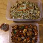 Chicken Fried Noddle & Chicken Dice with Peanut and Chilli