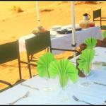 Dining in the desert at Kulala Desert Lodge