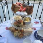 Afternoon Tea on our South Facing Balcony