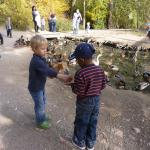 Feeding the ducks is a nice pastime at Wheeler!