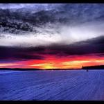 Snowmobile sunset!