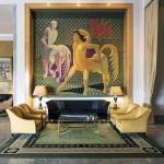 Almada Negreiros Lounge with tapestry